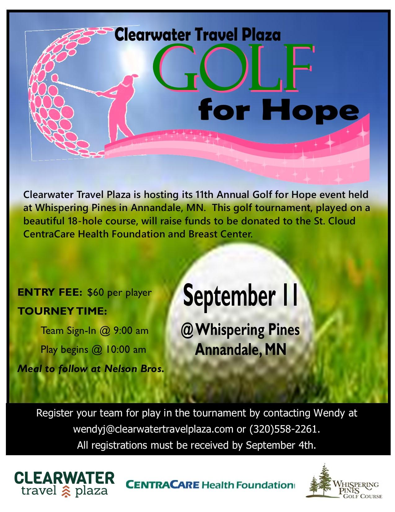 2020 Golf For Hope Flyer