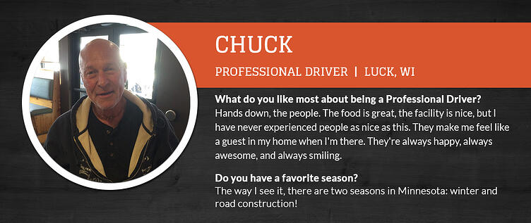 Clearwater Travel Plaza Professional Driver Chuck