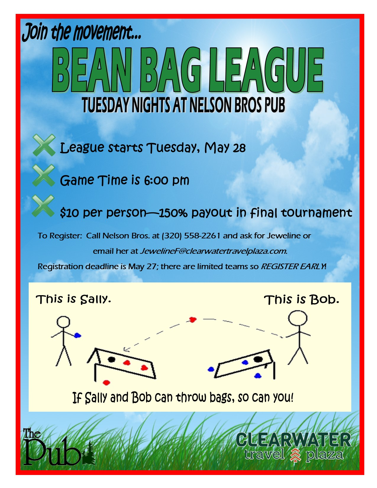 Bean Bag League Flyer 2019