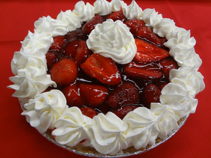 Clearwater Travel Plaza Nelson Bros Bakery Strawberry Cream Cheese Pie
